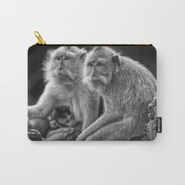 Monkeys With Baby Carry-All Pouch
