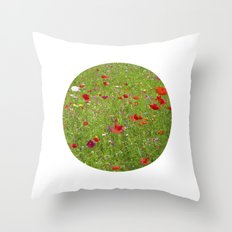 summer meadow IX Throw Pillow