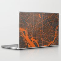 washington Laptop & iPad Skins featuring Washington Map by Map Map Maps