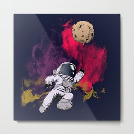 minimalist Astronaut Metal Print