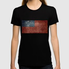 Samoan national flag - Vintage retro version to scale T-shirt