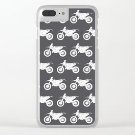 Dirt Bikes // Charcoal Grey Clear iPhone Case