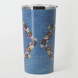 Sock Monkey Water Ballet Travel Mug
