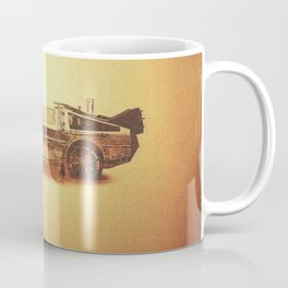 Lost in the Wild Wild West! (Golden Delorean Doubleexposure Art) Coffee Mug