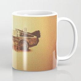 Lost in the Wild Wild West! (Golden Delorean Doubleexposure Art) Coffee Mug