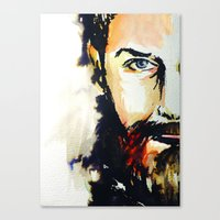 neil gaiman Canvas Prints featuring Simon Neil  by madbiffymorghulis