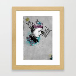Lewis Carroll Alice on My Mind Framed Art Print