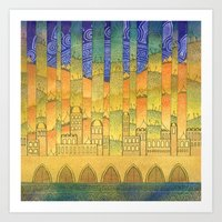 israel Art Prints featuring Israel by Eugene Frost