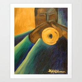 The Trumpet Player Art Print