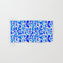 Exotic Garden Blue Hand & Bath Towel