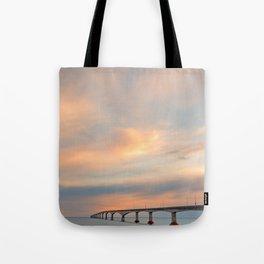 Sunset Sky Bridge Tote Bag