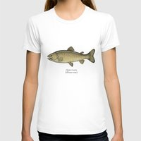 trout T-shirts featuring Brown trout by Eugenia Hauss