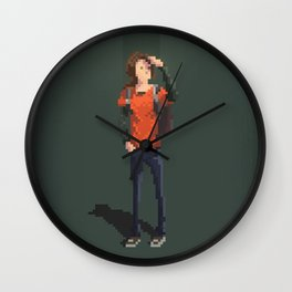 Ellie The last of us Pixel Art Wall Clock