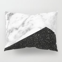 Ebony marble geo Pillow Sham
