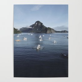 Te Philippines Islands in El Nido Palawan Poster