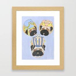 Little Drummer Pugs Framed Art Print