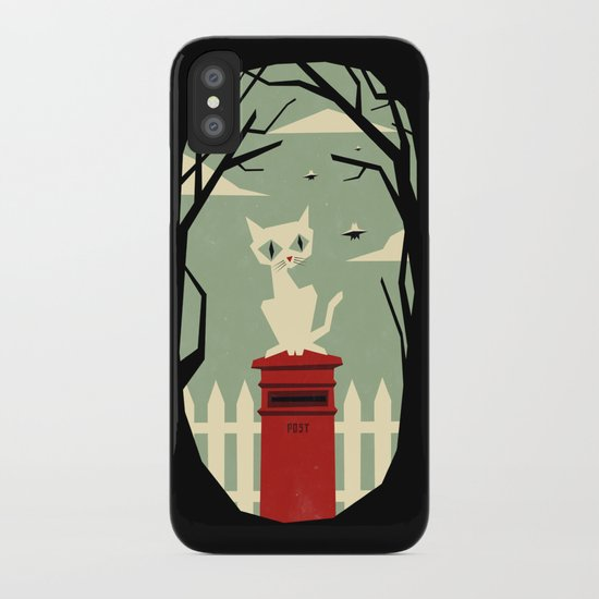 Let's meet at the red post box iPhone Case