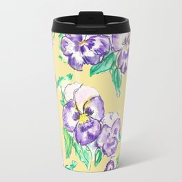 Pansy Pattern Travel Mug
