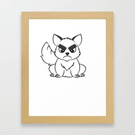 """""""I Hate Everyone Funny Cat"""" tee for fur parents and pet lovers out there! Cutest gift ever!  Framed Art Print"""