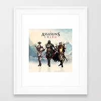 assassins creed Framed Art Prints featuring Assassins Creed Attack by bivisual