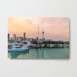 Sunset in Auckland Metal Print
