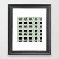 Tan Black Mint Checkerboard Framed Art Print
