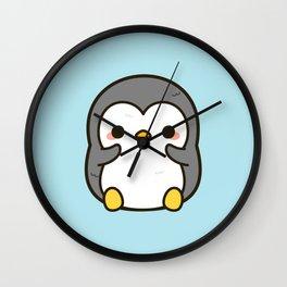 Shy penguin Wall Clock