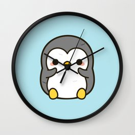 Shy penguin Wall Clock