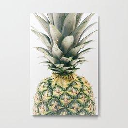 Tropical Pineapple Fruit Metal Print