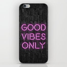 Neon Good Vibes - Pink iPhone Skin