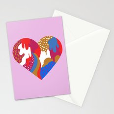 Drippy Heart Stationery Cards