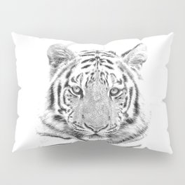 Black and white tiger Pillow Sham