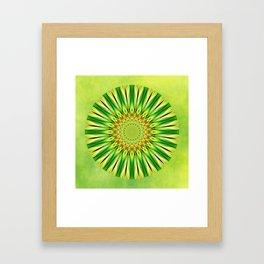 Mandala green Star Framed Art Print