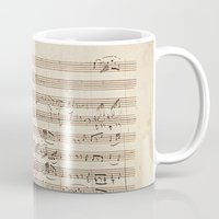 mozart Mugs featuring Mozart by Le petit Archiviste