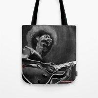 zappa Tote Bags featuring Frank Zappa by Katon Aqhari