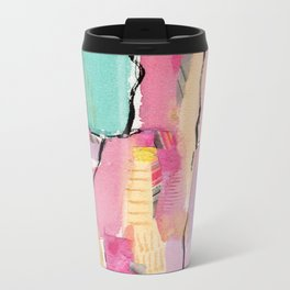 Tropical Collage Metal Travel Mug