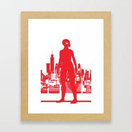 Mirror's Edge Minimalists Poster Framed Art Print