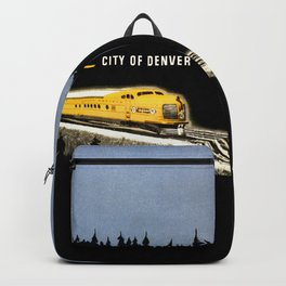 Union Pacific Train poster 1936 - Retouched Version Backpack