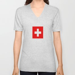 flag of Switzerland Unisex V-Neck