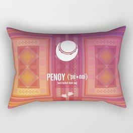 Penoy (hard boiled duck egg) Rectangular Pillow