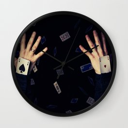 aces in sleeve Wall Clock