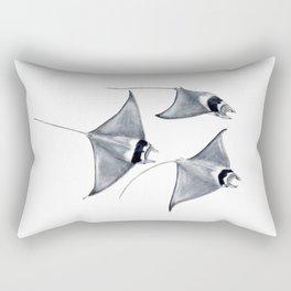 Devil fish Manta ray Mobula mobular Rectangular Pillow