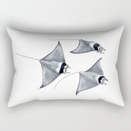 Devil fish Manta ray Mobula mobular Rectangular Pillow