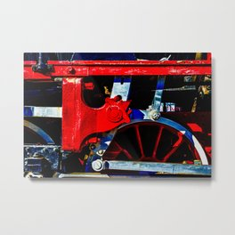 Colorful Driving Gear Of A Vintage Steam Locomotive Metal Print