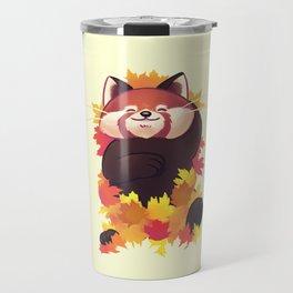 Relaxing Red Panda Travel Mug