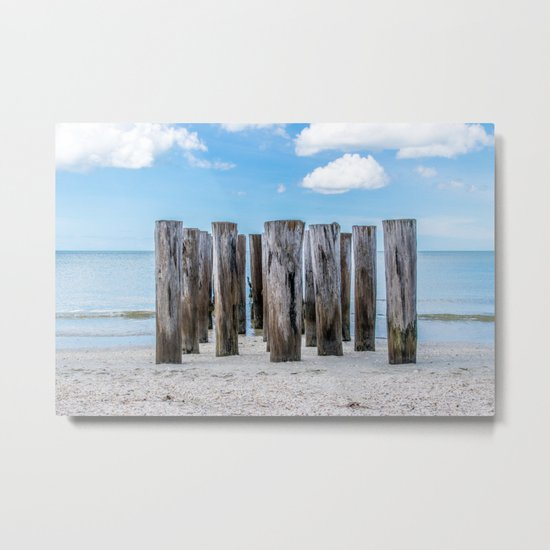 Pillar Beach Metal Print