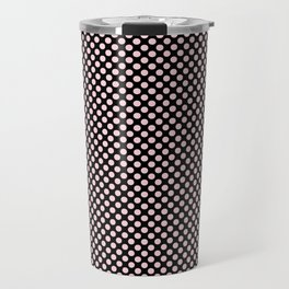 Black and Blushing Bride Polka Dots Travel Mug