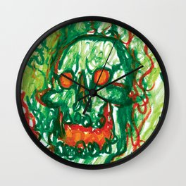 Laughing Skull Wall Clock