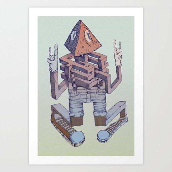 labyrinth dude Art Print