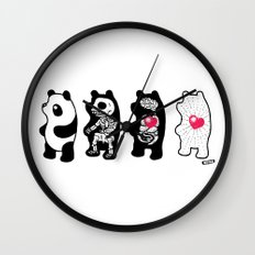 Panda Anatomy Wall Clock